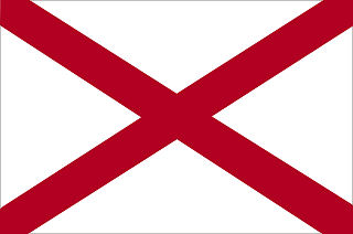 Official Alabama state flag.