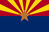 Image of the Arizona state flag.
