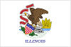 Image of the Illinois state flag.