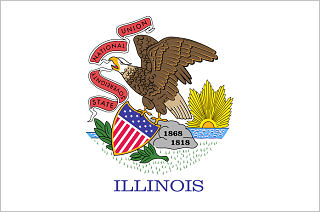 Official Illinois state flag.