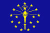 Image of the Indiana state flag.