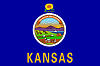 Official State Flag of Kansas.