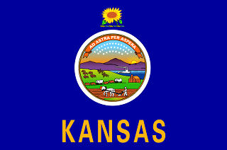 Official Kansas state flag.