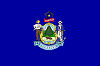 Image of the Maine state flag.