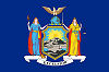 Image of the New York state flag.
