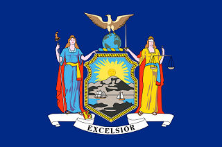 Official New York state flag.