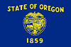 Official State Flag of Oregon.