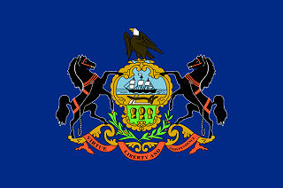 Official Pennsylvania state flag.