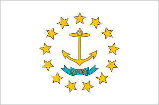 Official Rhode Island state flag.