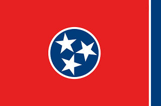 Official Tennessee state flag.