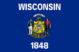 Official Wisconsin state flag.