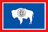 Official State Flag of Wyoming.