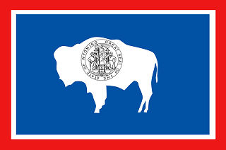 Official Wyoming state flag.