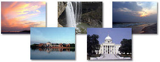 Alabama State collage of images.