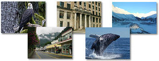Alaska State collage of images.