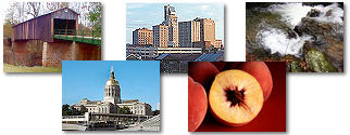 Georgia State collage of images.