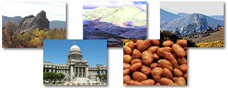 Idaho State collage of images.