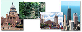 Illinois State collage of images.