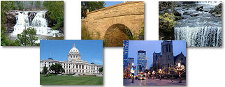 Minnesota State collage of images.