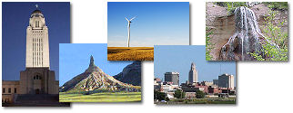 Nebraska State collage of images.