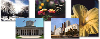 Ohio State collage of images.