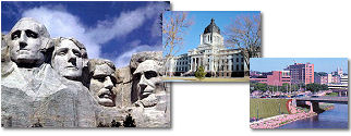 South Dakota State collage of images.