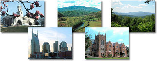 Tennessee State collage of images.
