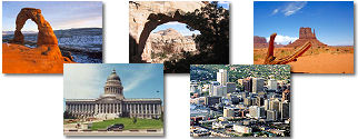 Utah State collage of images.