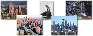 Washington State collage of images.