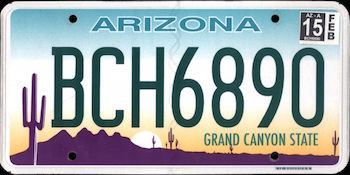 Official Arizona state license.