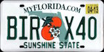 Image of the Florida state license.