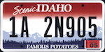 Official Idaho state license plate.