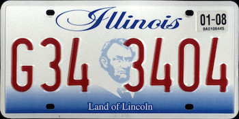 Official Illinois state license.