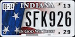 Image of the Indiana state license.