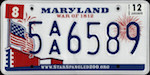 Official Maryland state license plate.
