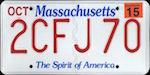 Official Massachusetts state license plate.