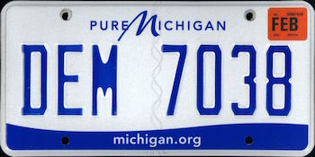 Official Michigan state license.