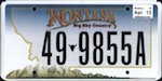 Official licens plate of Montana state.