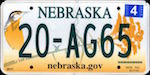 Official licens plate of Nebraska state.