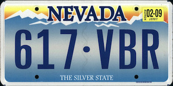 Official Nevada state license.