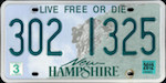 Official New Hampshire state license plate.