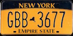 Official New York state license plate.
