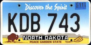 Official North Dakota state license.