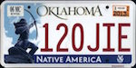 Image of the Oklahoma state license.