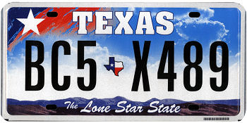 Official Texas state license.