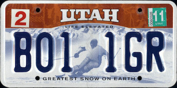 Official Utah state license.