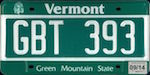 Official Vermont state license plate.