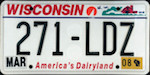 Official Wisconsin state license plate.