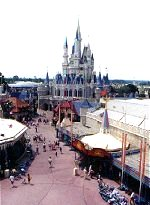 Disney World and Cinderella's castle.