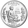 Commemorative state quarter of Alabama.